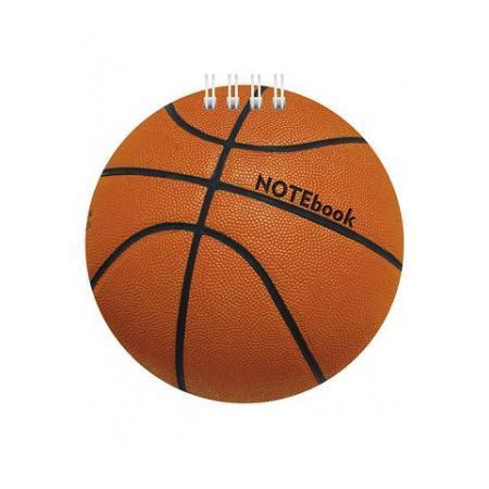 Блокнот 60л А6ф 80 гр/кв.м с фигурной высечкой на гребне Баскетбол60Б6Aгр_11794Блокнот с обложкой из картона, защищающей бумагу от деформации.