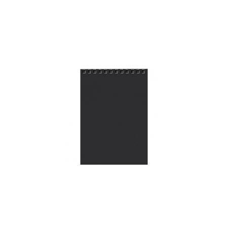 Блокнот 80л А5ф Пластиковая обложка на гребне DIAMOND Черный80Б5B1гр_02001Блокнот с обложкой из картона, защищающей бумагу от деформации.