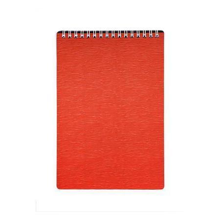 Блокнот 80л А5ф Пластиковая обложка на гребне DIAMOND НЕОН оранжевый