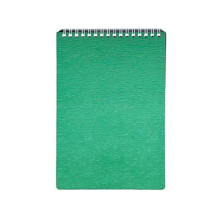 Блокнот 80л А5ф Пластиковая обложка на гребне WOOD Зеленый