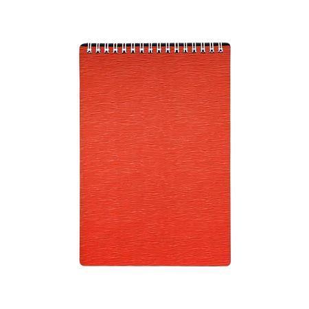 Блокнот 80л А5ф Пластиковая обложка на гребне WOOD Красный80Б5B1гр_02215Блокнот с обложкой из картона, защищающей бумагу от деформации.