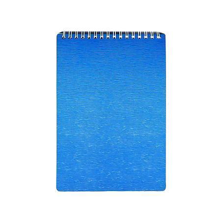 Блокнот 80л А5ф Пластиковая обложка на гребне WOOD Голубой80Б5B1гр_02225Блокнот с обложкой из картона, защищающей бумагу от деформации.