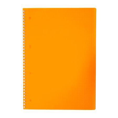 Тетрадь 80л А4ф Пластиковая обложка на гребне DIAMOND НЕОН оранжевая80Т4B1гр_02035
