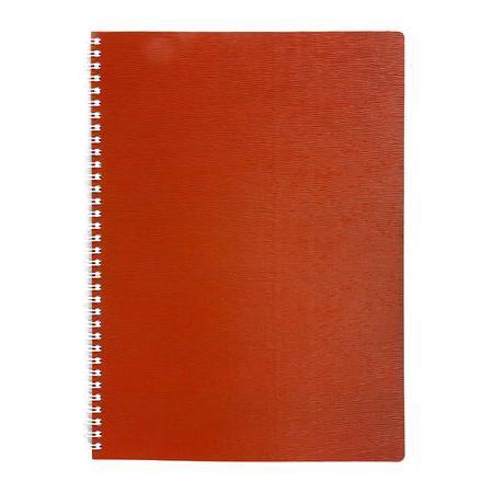 Тетрадь 80л А4ф Пластиковая обложка на гребне WOOD Красная80Т4B1гр_02215