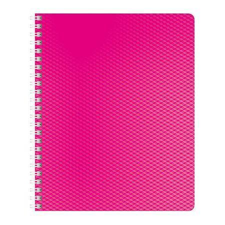 Тетрадь 80л А5ф Пластиковая обложка на гребне DIAMOND НЕОН розовая80Т5B1гр_02033