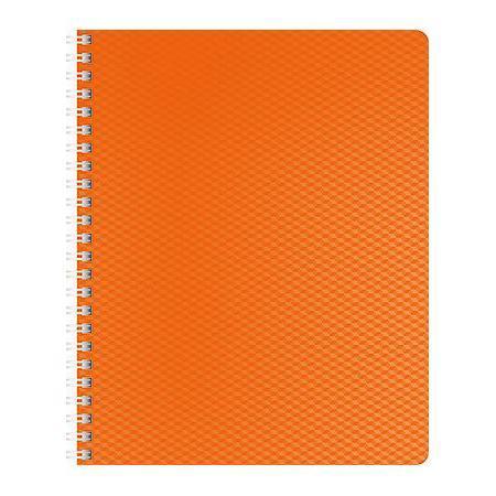 Тетрадь 80л А5ф Пластиковая обложка на гребне DIAMOND НЕОН оранжевая80Т5B1гр_02035