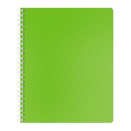 Тетрадь 80л А5ф Пластиковая обложка на гребне DIAMOND НЕОН зеленая80Т5B1гр_02034