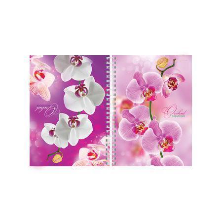 Тетрадь двойная с твердой обложкой 80л А5ф на гребне Орхидея80Тдт5B1гр_04374Тетрадь с обложкой из картона, защищающей бумагу от деформации.