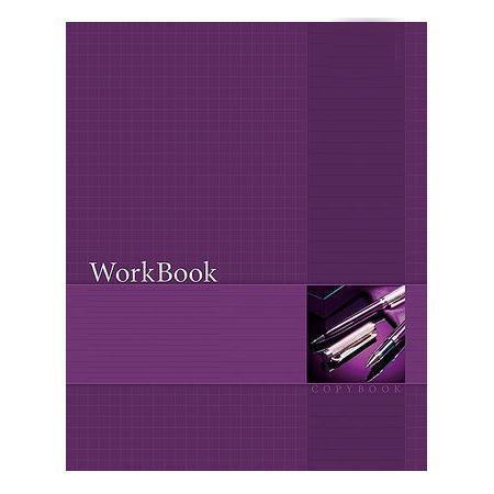 Тетрадь 96л А5ф клетка сшито клеен. тиснение WorkBook Фиолетовая96Т5тB1к_12918Тетрадь с обложкой из картона, защищающей бумагу от деформации.