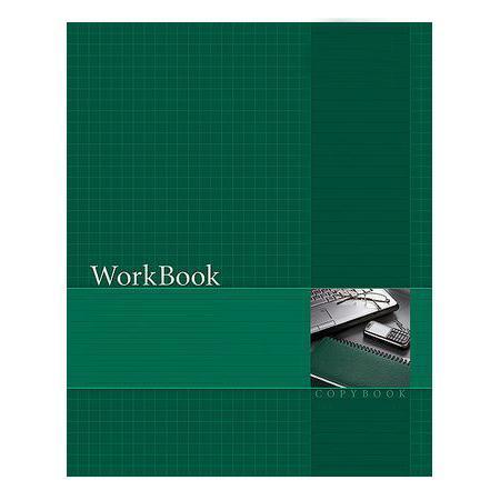 Тетрадь 96л А5ф клетка сшито клеен. тиснение WorkBook Зеленая96Т5тB1к_06193Тетрадь с обложкой из картона, защищающей бумагу от деформации.