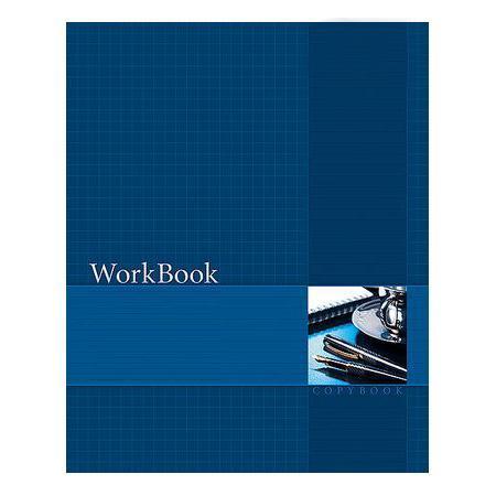 Тетрадь 96л А5ф клетка сшито клеен. тиснение WorkBook Синяя96Т5тB1к_09097Тетрадь с обложкой из картона, защищающей бумагу от деформации.