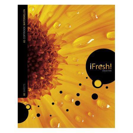Тетрадь 80л А5ф на гребне серия iFRESH80Т5B1грТетрадь с обложкой из картона, защищающей бумагу от деформации.
