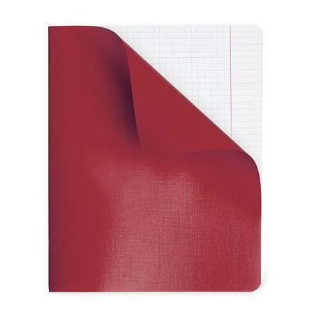 Тетрадь для записи 96л А5ф клетка на скобе в Полимерной обложке Красная