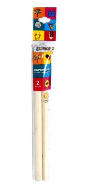 Silwerhof Карандаш чернографитовый, (набор из 2шт.), EMOTIONS, HB, трехгранный, корпус натуральное дерево, карт.европодвес арт.125071-03