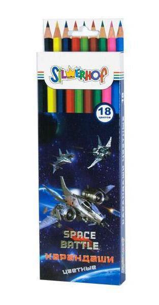 Карандаши цветные, 18цв., SPACE BATTLE, карт.европодвес арт.134109-18 ед.изм.Набор134109-18Яркие цветные карандаши Silwerhof идеально подходят для детского творчества и помогут воплотить все самые необычные идеи ребенка. Набор обладает достаточным количеством цветов и оттенков для полноценного рисунка — 18 штук. Насыщенный грифель легко оставляет яркий след на бумаге. Древесина не крошится, а грифель не ломается слишком быстро. Благодаря качественным материалам карандаши можно быстро и легко заточить. Картонная упаковка с европодвесом.