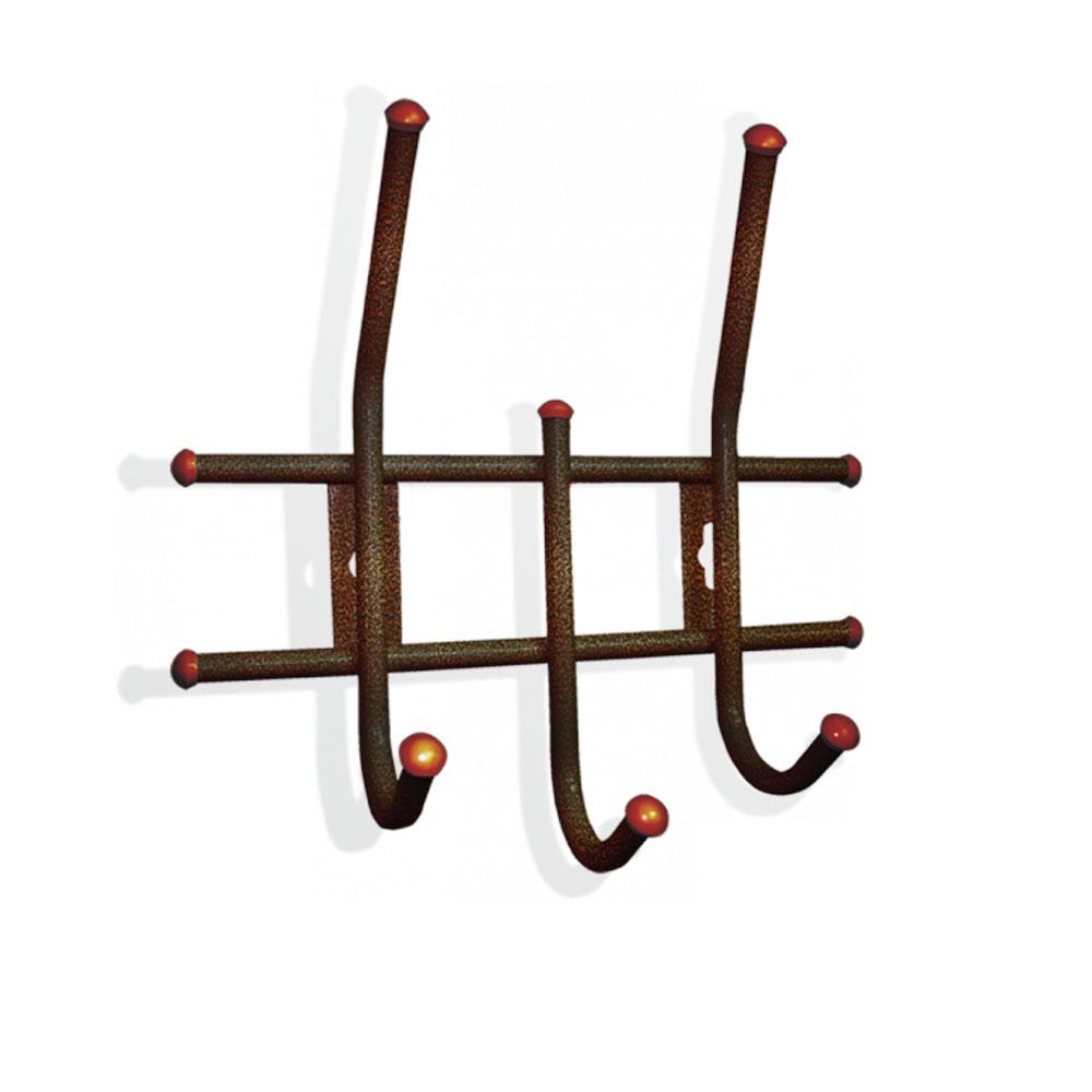 Вешалка настенная Sheffilton Стандарт 2/3, цвет: медный, 3 крючкаВ2-5-4Настенная вешалка Sheffilton Стандарт 2/3, изготовленная из металла, - это стильное решение для дома и офиса в экономии пространства. Вешалка имеет 3 парных крючка, на которые вы сможете повесить одежду, сумку или шарфы. На крючках имеются декоративные пластиковые наконечники. Вешалка покрыта порошковой окраской, стойкой к механическим повреждениям. Крепится к стене при помощи двух шурупов (не входят в комплект). Максимальная нагрузка на крючок: 5 кг.