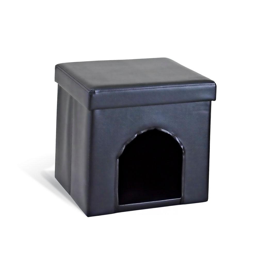 Банкетка складная Sheffilton, цвет: черный, 38 х 38 х 38 см SHT-FO9SHT-FO9Оригинальная складная банкетка Sheffilton идеально впишется в интерьер любой комнаты, прихожей и станет отличным дополнением на даче. Каркас банкетки изготовлен из МДФ и обит искусственной кожей. Может использоваться как мягкое посадочное место или столик. Верхняя часть открывается, позволяя использовать внутреннюю часть банкетки как дополнительное место для хранения необходимых вещей.