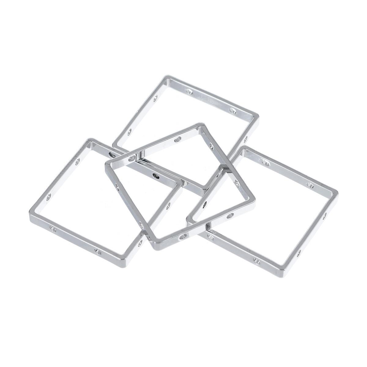 Основа для украшений Fimo, 25 мм х 25 мм, 4 шт8625-22Основа для украшений Fimo изготовлена из серебристого металла, без содержания никеля. Не тускнеет со временем. Основа квадратной формы, с отверстиями. Идеально подходит для изготовления ожерелий, сережек, браслетов. Бижутерия, сделанная своими руками, стильно дополнит ваш образ и подчеркнет вашу яркую индивидуальность. Толщина: 3 мм.