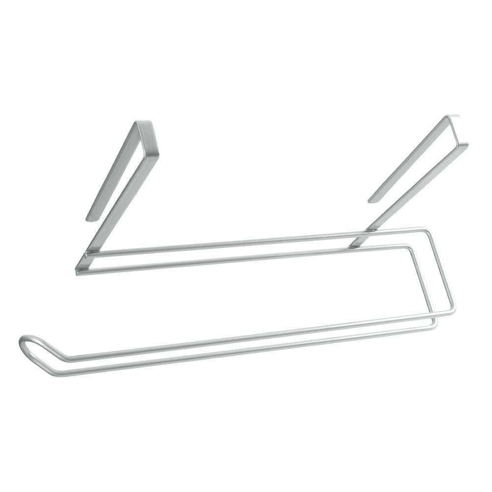 Держатель для бумажного полотенца Metaltex, цвет: серебристый, 35 х 18 х 10 см36.49.35/94Подвесной кухонный держатель Metaltex предназначен для хранения и удобного использования бумажных полотенец. Он выполнен из высококачественной стали со специальным политермическим покрытием серебристого цвета Polyterm, которое не повредит вашу мебель. Благодаря компактным размерам держатель для бумажного полотенца впишется в интерьер вашей кухни. Вы можете закрепить его на внутренней или внешней части фасада шкафчика кухонной мебели или на полке подвесного шкафа вашей кухни, не прибегая к сверлению или приклеиванию.