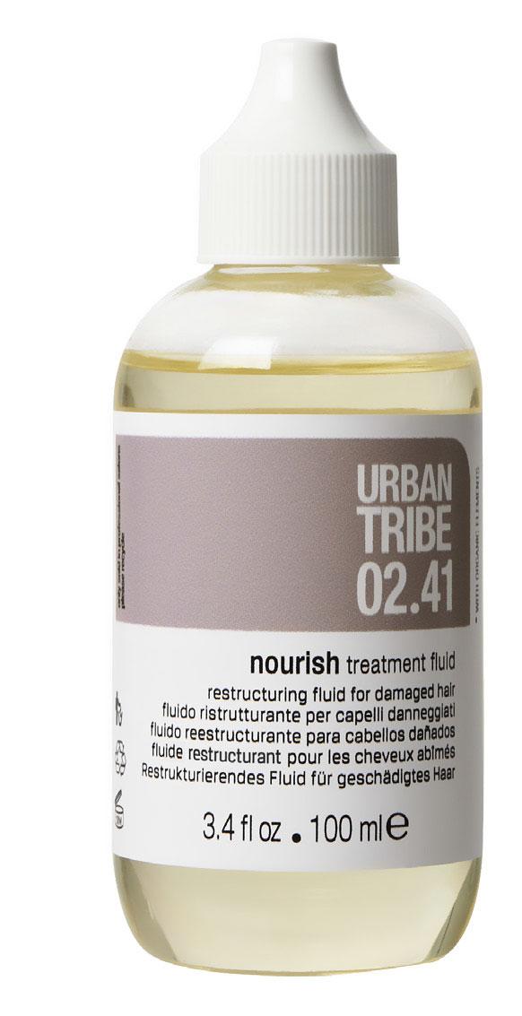 URBAN TRIBE Легкий восстанавливающий флюид для сухих или поврежденных волос 100 мл56973Легкий восстанавливающий флюид для сухих или поврежденных волос, который может быть использован самостоятельно или в паре с другими ухаживающими продуктами Urban Tribe. Средство мгновенно преображает поврежденные волосы, восстанавливая их структуру и глубоко увлажняя, а также придает эластичность и предотвращает сечение кончиков. Продукт обеспечивает глубокое питание и восстановление волос за счет содержания гидролизованного кератина, а также органических масел папайя, ши и манго, придает ухоженный, здоровый вид уже после первого применения и демонстрирует потрясающий накопительный эффект: регулярное использование флюида буквально подарит волосам вторую жизнь.