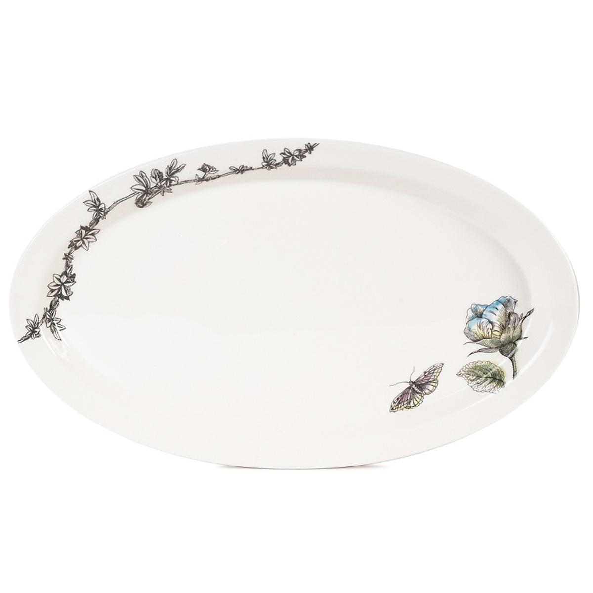 Блюдо овальное Fitz and Floyd Цветок, 34,5 см х 20 см20-209Овальное блюдо Fitz and Floyd Цветок изготовлено из высококачественной керамики и декорировано изящным рисунком. Такое оригинальное блюдо идеально подойдет для красивой сервировки стола. Рекомендуется мыть вручную с использованием неабразивных моющих средств. Размер блюда: 34,5 см х 20 см х 2,5 см.