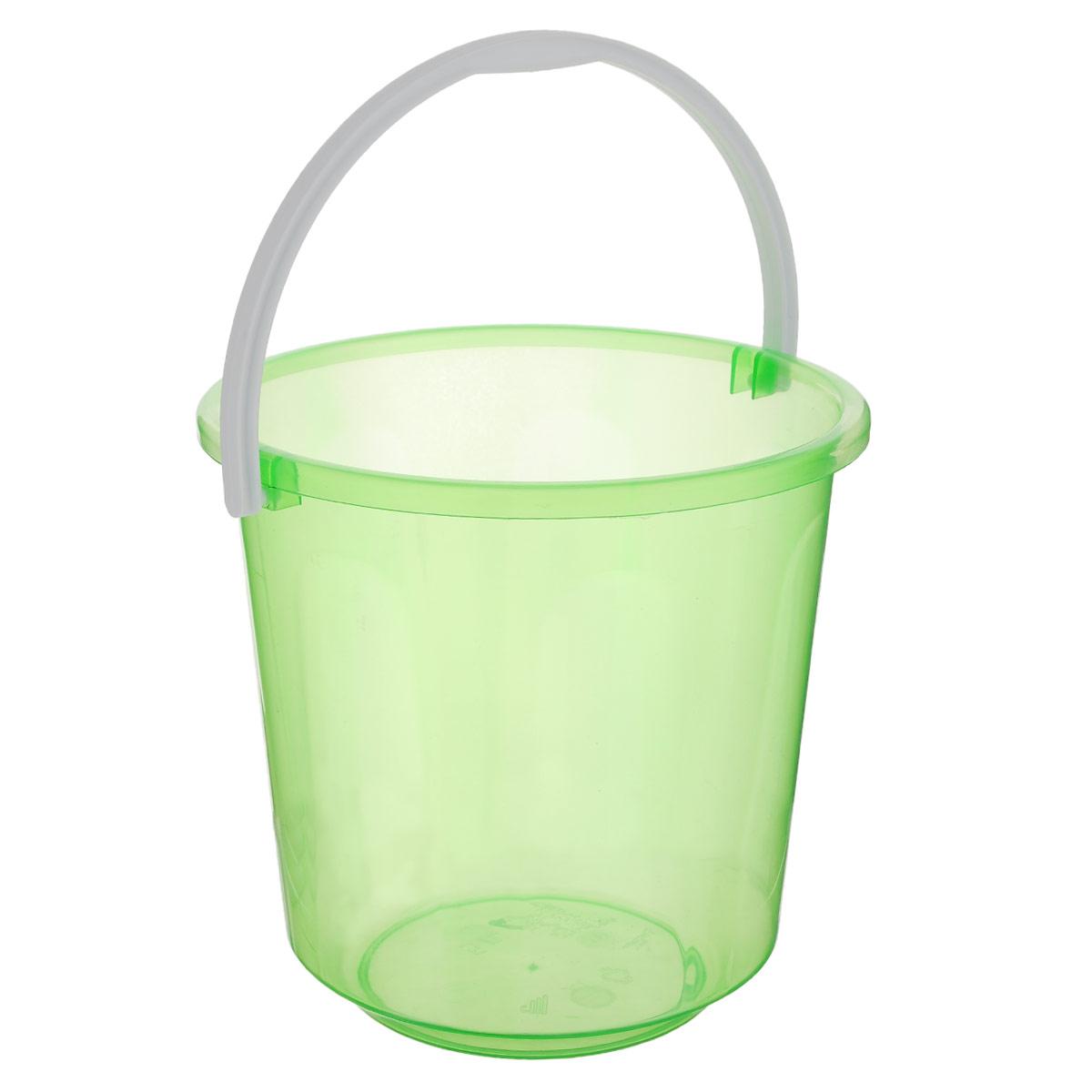 Ведро Альтернатива Хозяюшка, цвет: зеленый, 5 лМ1182_зеленыйВедро Альтернатива Хозяюшка изготовлено из высококачественного цветного пластика. Оно легче железного и не подвержено коррозии. Ведро оснащено удобной пластиковой ручкой. Такое ведро станет незаменимым помощником в хозяйстве. Высота: 21 см. Диаметр: 21 см.