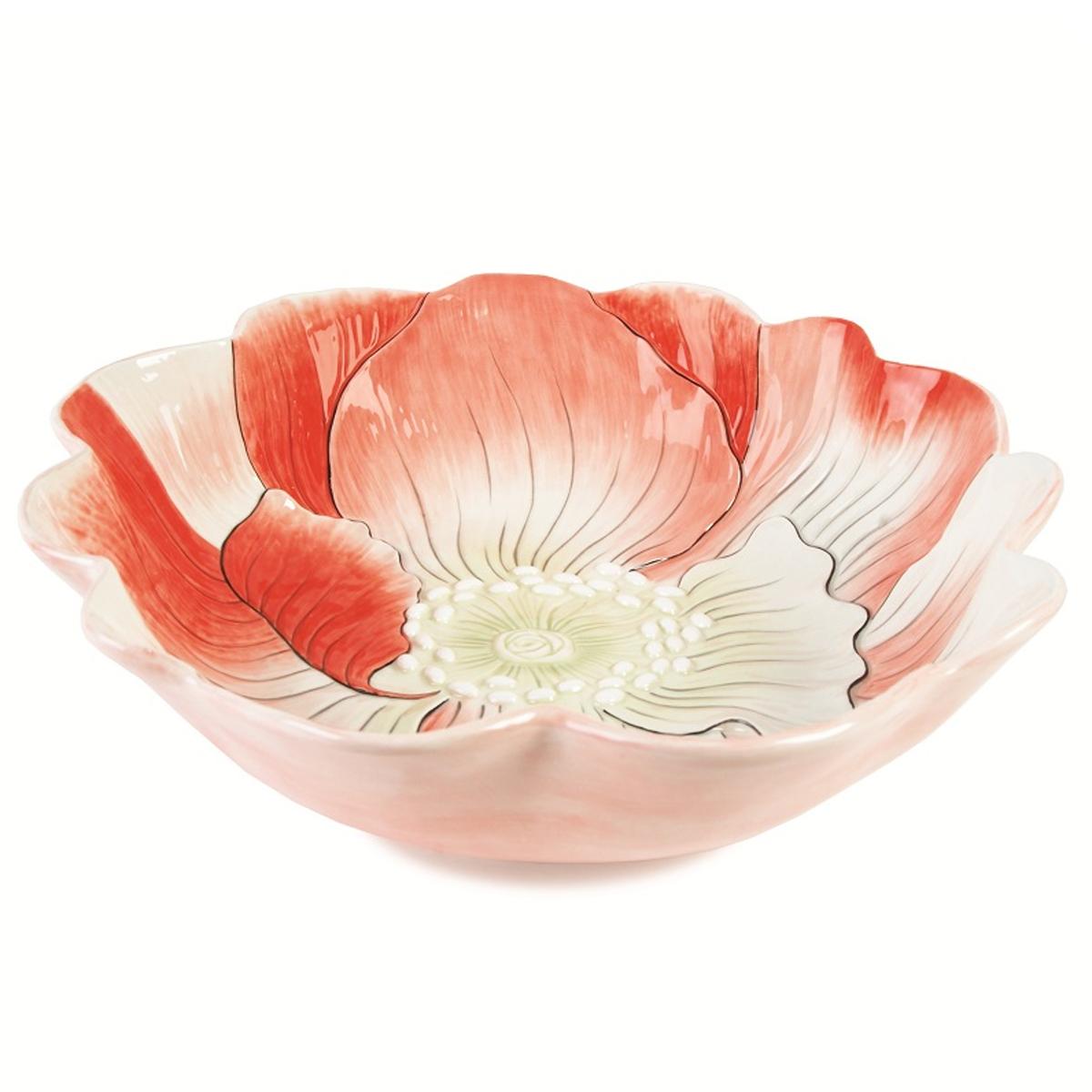 Блюдо Fitz and Floyd Гортензия, диаметр 39 см20-319Блюдо Fitz and Floyd Гортензия изготовлено из высококачественной керамики и выполнено в виде цветка. Такое оригинальное блюдо идеально подойдет для красивой сервировки стола. Рекомендуется мыть вручную с использованием неабразивных моющих средств. Размер блюда: 39 см х 39 см х 10,5 см.