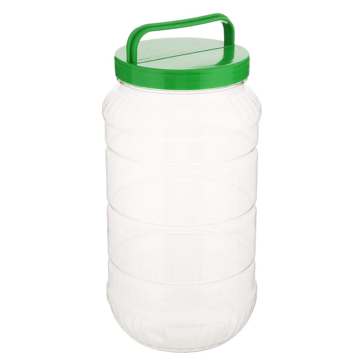 Бидон Альтернатива, цвет: зеленый, 3 лМ462_зеленыйБидон Альтернатива предназначен для хранения и переноски пищевых продуктов, таких как молоко, вода и прочее. Выполнен из пищевого высококачественного ПЭТ. Оснащен ручкой для удобной переноски. Бидон Альтернатива станет незаменимым аксессуаром на вашей кухне. Высота бидона (без учета крышки): 25 см. Диаметр: 10,5 см.