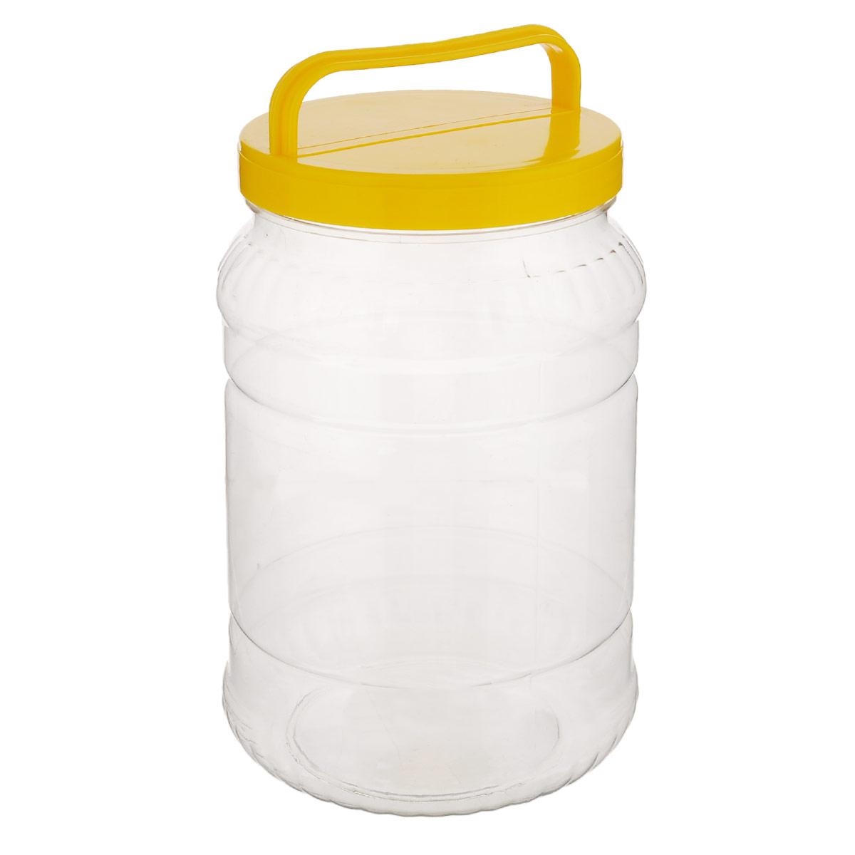 Бидон Альтернатива, цвет: прозрачный, желтый, 2 лМ461_желтыйБидон Альтернатива предназначен для хранения и переноски пищевых продуктов, таких как молоко, вода и прочее. Выполнен из пищевого высококачественного пластика. Оснащен ручкой для удобной переноски. Бидон Альтернатива станет незаменимым аксессуаром на вашей кухне. Высота бидона (без учета крышки): 20,5 см. Диаметр: 10,5 см.