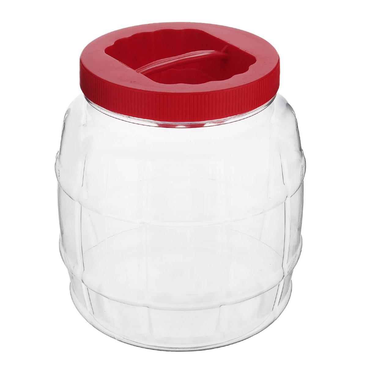 Емкость Альтернатива Бочонок, с ручкой, цвет: красный, 2 лМ689_красныйЕмкость Альтернатива Бочонок предназначена для хранения сыпучих продуктов или жидкостей. Выполнена из высококачественного пластика. Оснащена ручкой для удобной переноски. Диаметр: 10,5 см. Высота (без учета крышки): 15,5 см.