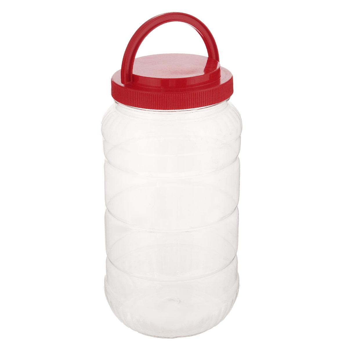 Емкость Альтернатива, с ручкой, цвет: красный, 3 лM957_красныйЕмкость Альтернатива предназначена для хранения сыпучих продуктов или жидкостей. Выполнена из высококачественного пластика. Оснащена ручкой для удобной переноски. Ручка опускается. Диаметр: 10,5 см. Высота (без учета крышки): 25 см.