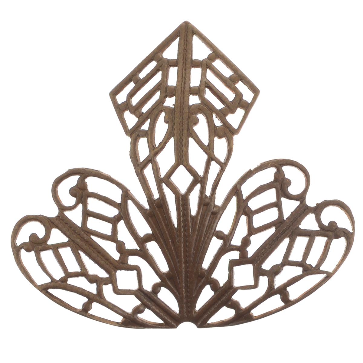 Декоративный элемент Vintaj Орхидея, 38 мм х 35 ммF300RRДекоративный элемент Vintaj Орхидея выполнен из металла в технике филигрань. Изделие позволит вам своими руками создать оригинальные ювелирные украшения (серьги, броши и другое). Филигрань - ювелирная техника, разновидность художественно - прикладного искусства, использующая ажурный или напаянный на металлический фон узор из проволоки. Радуйте себя и своих близких украшениями, сделанными своими руками! Размер: 38 мм х 35 мм.