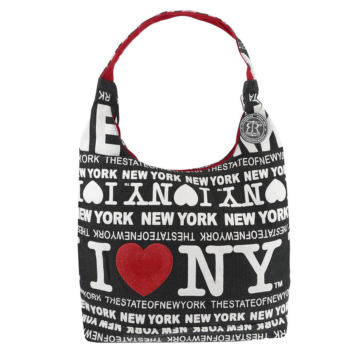 Сумка женская New York, цвет: черный. BLN505-BBLN505-BОригинальная женская сумка  NEW YORK выполнена из канвы дополнена ярким принтом с надписью I Love New York . Изделие содержит одно основное отделение, закрывающееся на застежку-молнию. Внутри - вшитый карман на молнии. Сумка оснащена практичной лямкой, которая дополнена брелком на цепочке. Стильная сумка позволит вам подчеркнуть свою индивидуальность, и сделает ваш образ завершенным.