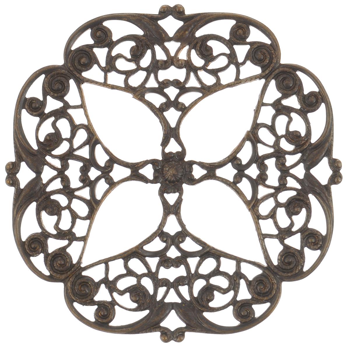 Декоративный элемент Vintaj Цветок, диаметр 48 ммF310RRДекоративный элемент Vintaj Цветок выполнен из металла в технике филигрань. Изделие позволит вам своими руками создать оригинальные ювелирные украшения (серьги, броши и другое). Филигрань - ювелирная техника, разновидность художественно - прикладного искусства, использующая ажурный или напаянный на металлический фон узор из проволоки. Радуйте себя и своих близких украшениями, сделанными своими руками! Диаметр: 48 мм.