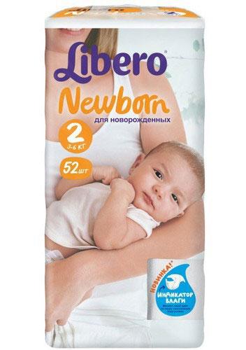 Libero Подгузники Newborn (3-6 кг) 52 шт5563