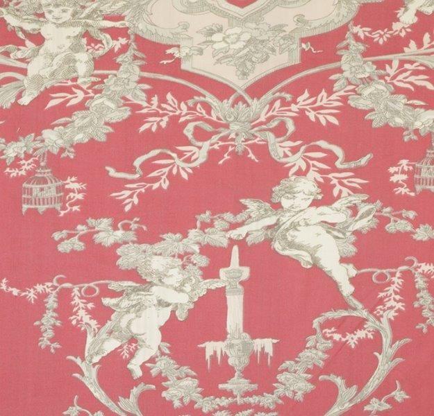 Ткань Cherubin rouge, ширина 110см, в упаковке 1м, 100% хлопок, коллекция Les rouges et roses /Изысканно-красный/. BCH.36BCH.36Ткань Cherubin rouge, ширина 110см, в упаковке 1м, 100% хлопок, коллекция Les rouges et roses /Изысканно-красный/