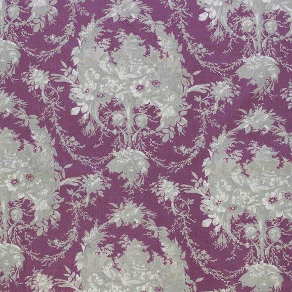 Ткань Melanie violet, ширина 110см, в упаковке 1м, 100% хлопок, коллекция Les violets /Благородно-фиолетовый/. BME.PYBME.PYТкань Melanie violet, ширина 110см, в упаковке 1м, 100% хлопок, коллекция Les violets /Благородно-фиолетовый/