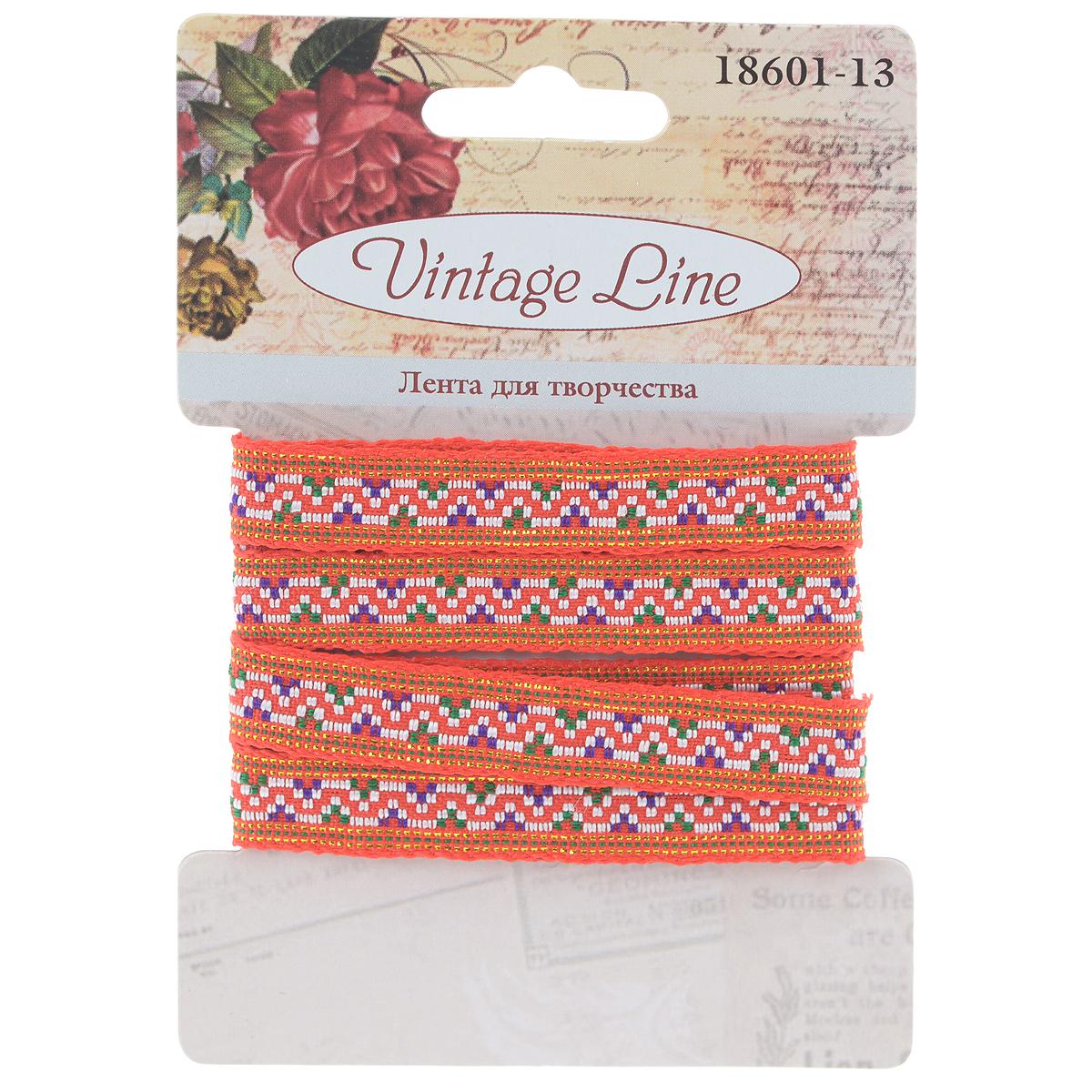 Лента декоративная Vintage Line, цвет: красный, 1,2 х 100 см7709661Декоративная лента Vintage Line выполнена из текстиля и оформлена оригинальным узором. Такая лента идеально подойдет для оформления различных творческих работ таких, как скрапбукинг, аппликация, декор коробок и открыток и многое другое. Лента наивысшего качества практична в использовании. Она станет незаменимым элементом в создании рукотворного шедевра. Ширина: 1,2 см. Длина: 1 м.