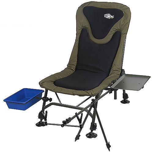 """Кресло рыболовное Norfin """"Boston NF"""" с обвесами, цвет: хаки, 88 см х 58 см х 93 см"""