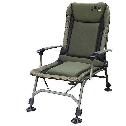 "Кресло карповое Norfin ""Lincoln NF"", цвет: хаки, 52,5 см х 52 см х 103 см NF-20606"