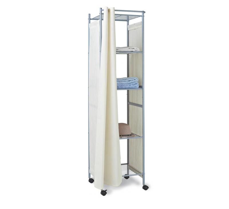 Стеллаж для хранения «Sheffilton», цвет: серый, бежевый, 43 см х 40 см х 170 см  тумбочка под телевизор черная