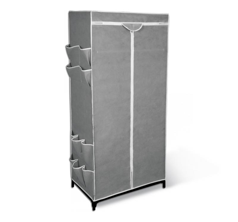 Мобильный шкаф Sheffilton, с чехлом, цвет: серый, 70 х 44 х 155 см EL-2013EL-2013Вместительная вешалка-гардероб Sheffilton - это компактное и практичное решение для хранения вещей. Прочный и легкий каркас выполнен из металлических трубок и пластиковых соединительных крепежей. Чехол на молнии изготовлен из плотного и прочного нетканого материала, он защитит вашу одежду от грязи, моли и влаги. Предусмотрена промежуточная полка для хранения вещей. Под полкой расположена металлическая штанга для вешалок-плечиков. Снаружи имеются боковые открытые карманы для хранения вещей. Изделие полностью разборное и упаковано в плоскую тару. Максимальная нагрузка на штангу: 15 кг. Максимальная нагрузка на полку: 17 кг.