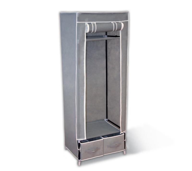 Мобильный шкаф «Sheffilton», с чехлом, цвет: серый, 60 х 45 х 160 см  тумбочка с центральным замком