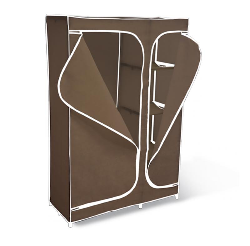 Мобильный шкаф «Sheffilton», с чехлом, 2-х секционная, цвет: темно-коричневый, 105 х 45 х 160 см  тумба для обуви арт