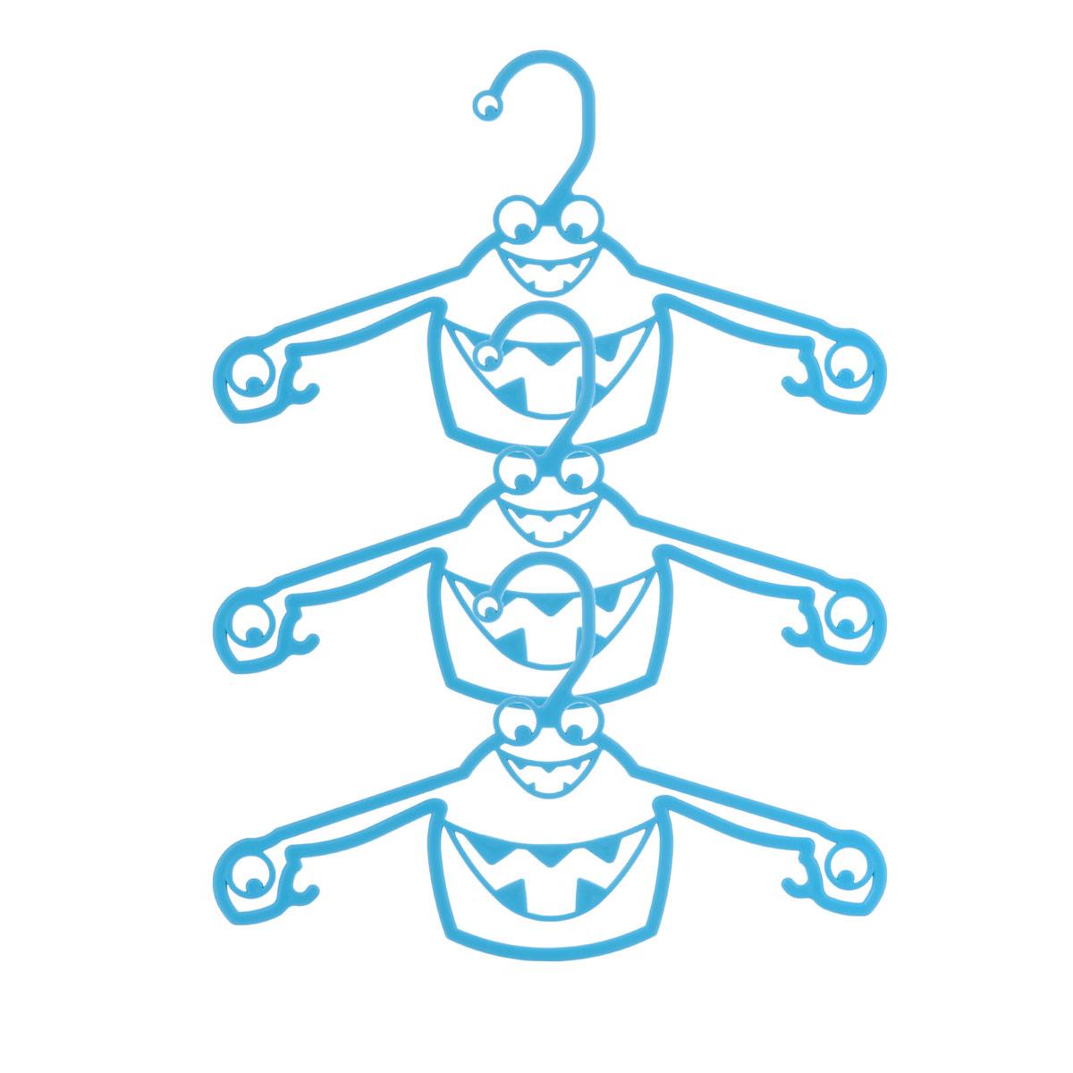 Набор вешалок Пластишка, с крючками, цвет: бирюзовый, 3 штС13024_бирюзаНабор Пластишка, изготовленный из прочного полипропилена, состоит из 3 детских вешалок для одежды с закругленными плечиками. Изделия оснащены крючками. Вешалка - это незаменимая вещь для того, чтобы ваша одежда всегда оставалась в хорошем состоянии. Комплектация: 3 шт.