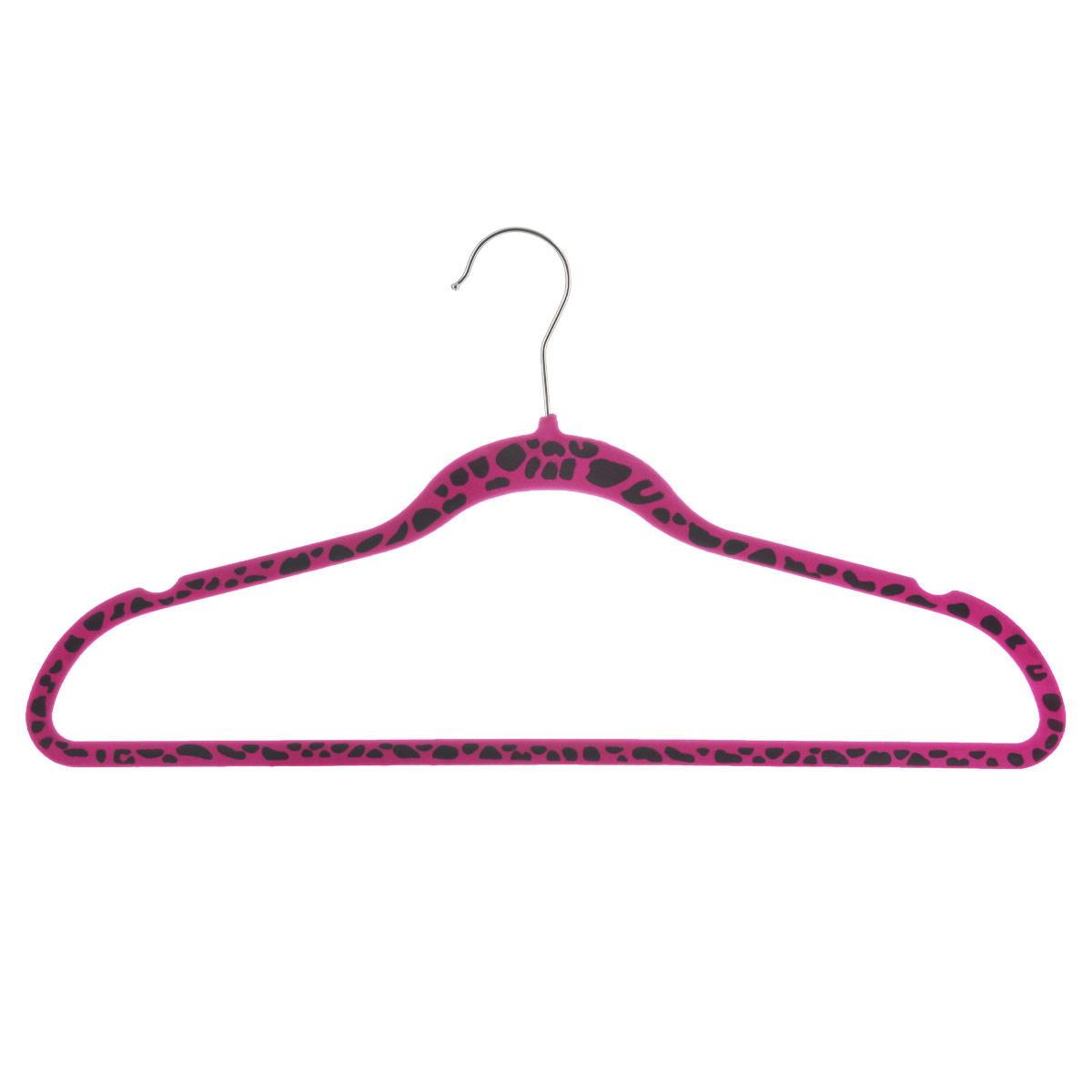Вешалка для одежды Flatel Сафари, цвет: розовый, черный, размер 50-52M012Вешалка Flatel Сафари выполнена из ABS-пластика, обтянута бархатистой тканью флок. Вешалка оснащена перекладиной, удобным металлическим крючком, а также выемками для петелек одежды. Вешалка - это незаменимая вещь для того, чтобы ваша одежда всегда оставалась в хорошем состоянии. Размер одежды: 50-52.