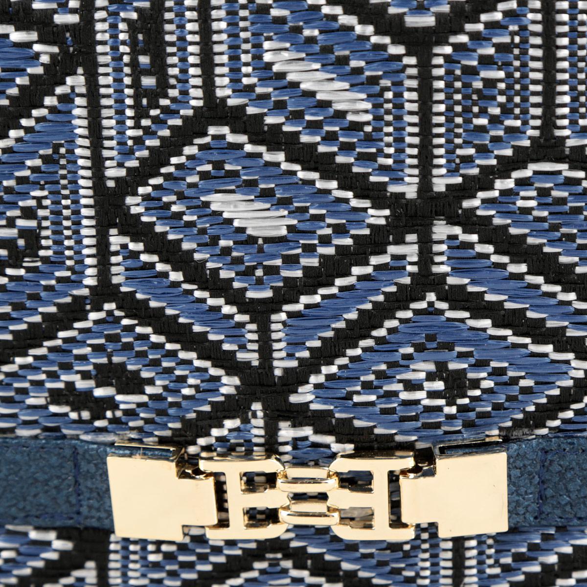 Сумка женская Labbra, цвет: черный, синий, серебристый. L-4887