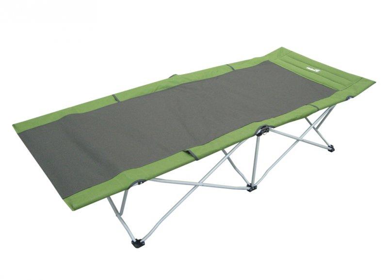 """Helios Кровать походная """"Helios"""", цвет: серый, зеленый, 206 см х 82 см х 42 см"""