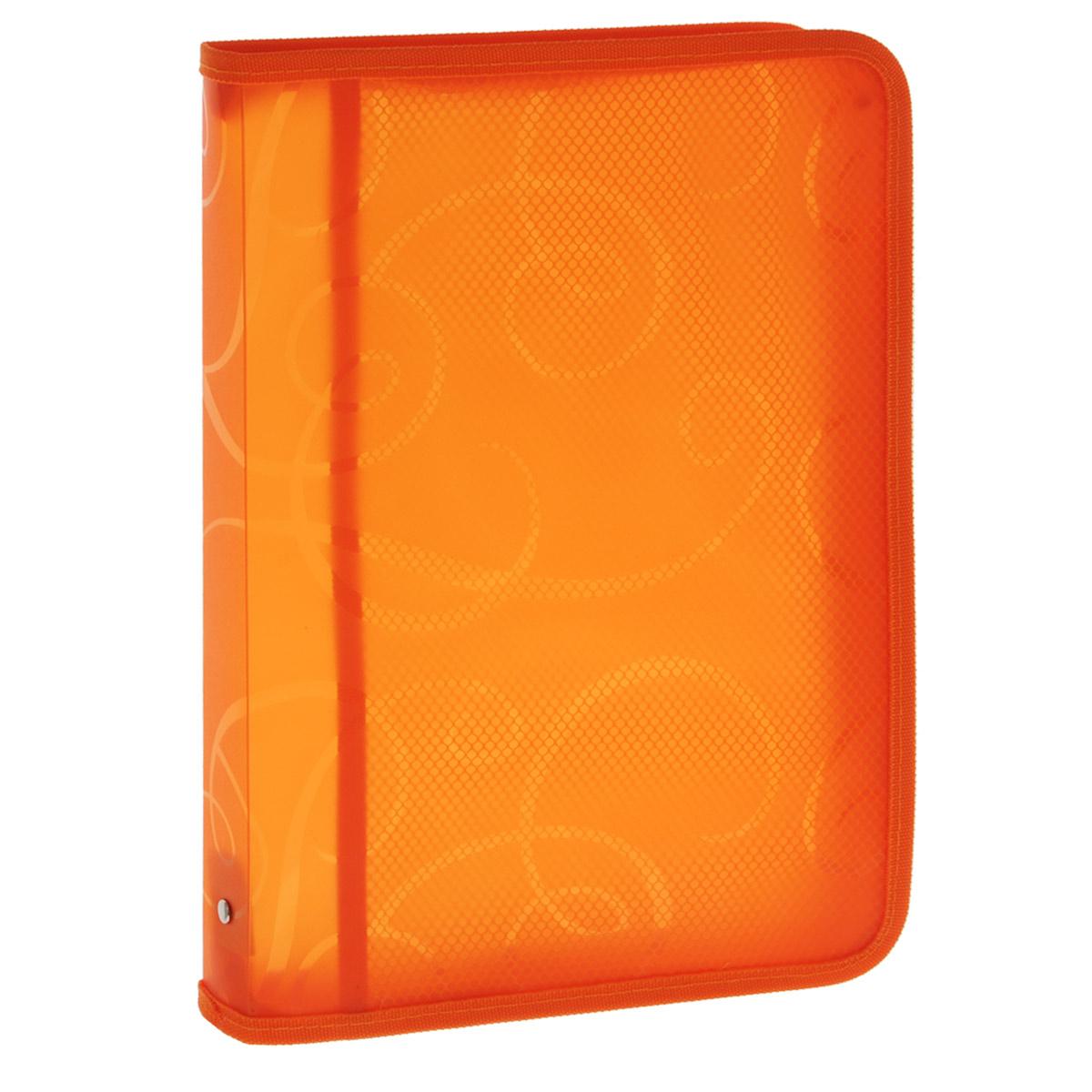Centrum Папка на молнии цвет оранжевый80900 оранжевыйПапка для тетрадей Centrum - это удобный и функциональный офисный инструмент, предназначенный для хранения и транспортировки рабочих бумаг и документов формата А4, а также тетрадей и канцелярских принадлежностей. Папка изготовлена из прочного высококачественного пластика, закрывается на круговую застежку-молнию. Папка состоит из одного отделения, внутри расположен открытый карман-сеточка. Папка оформлена оригинальным принтом в виде спиралей. Папка имеет опрятный и неброский вид. Края папки отделаны полиэстером, а уголки имеют закругленную форму, что предотвращает их загибание и помогает надолго сохранить опрятный вид обложки. Папка - это незаменимый атрибут для любого студента, школьника или офисного работника. Такая папка надежно сохранит ваши бумаги и сбережет их от повреждений, пыли и влаги.