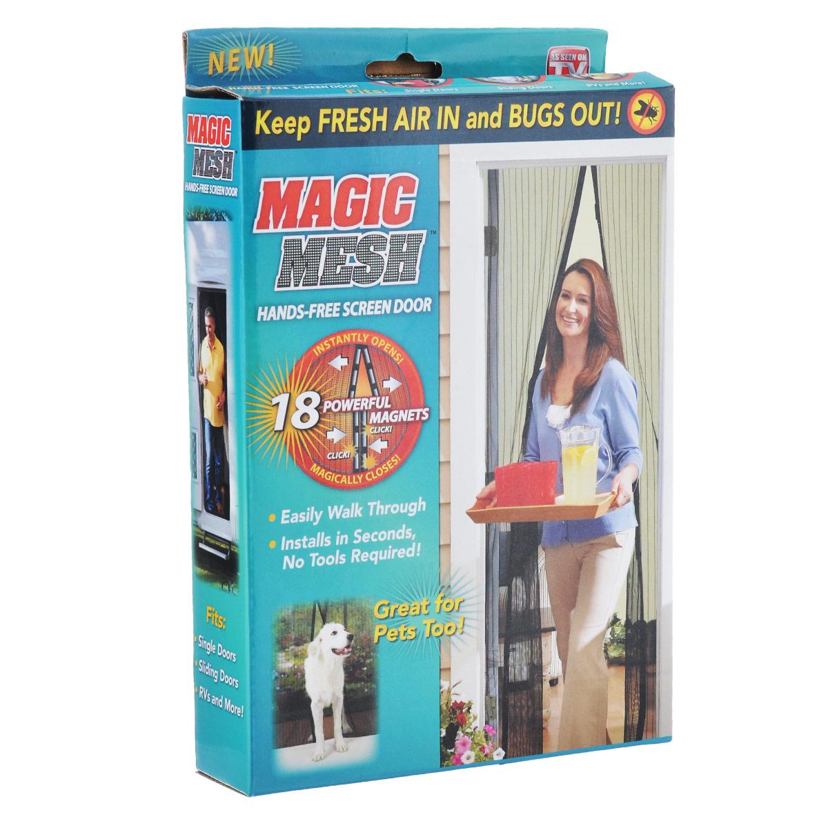 Сетка от насекомых Bradex Маскитофф, для дверей, цвет: черныйTD 0264Сетка для дверей насекомых Bradex Маскитофф выполнена из прочного полиэстера. Такая сетка встанет нерушимой преградой между вашим домом и насекомыми. Чтобы избавиться от комаров и мух, которые отравляют сон, не обязательно закрывать все двери и окна и задыхаться в доме от жары. С магнитной сеткой вы легко пройдете сквозь нее, даже если заняты руки. Благодаря 18 магнитам, вшитым в сетку, она магически захлопнется за вами. Bradex Маскитофф просто незаменим для владельцев животных. Вместо того, чтобы жалобно скрестить в дверь, ваш питомец сможет входить и выходить из помещения, когда пожелает. Для установки вам не потребуются ни гвозди, ни шурупы: сетка на липучке прочно крепится к любой двери и не отходит весь сезон, как бы часто вы ею ни пользовались. Впустите свежий воздух в ваш дом, оставив назойливых насекомых на улице с магнитной сеткой для дверей Bradex Маскитофф! Размер сетки: 100 см х 210 см.
